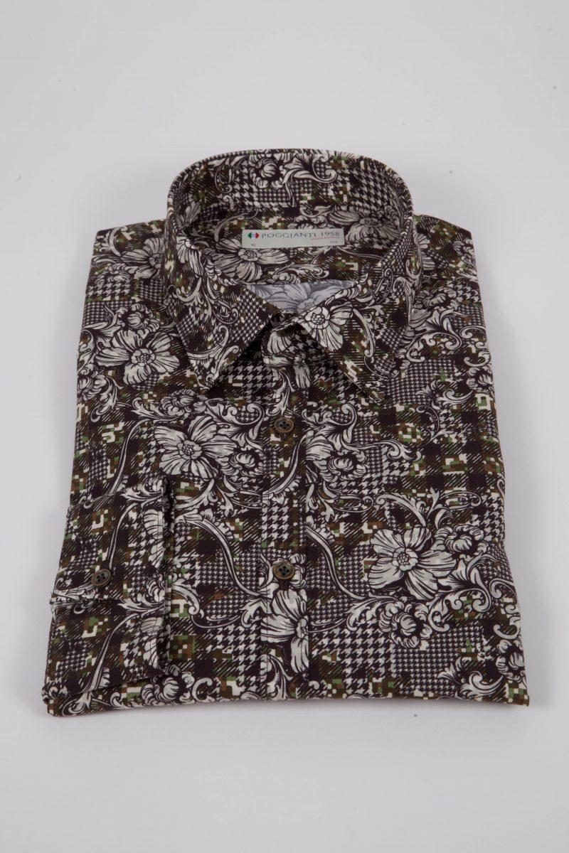 Camicia con stampa camouflage PISA-UBB-528-01