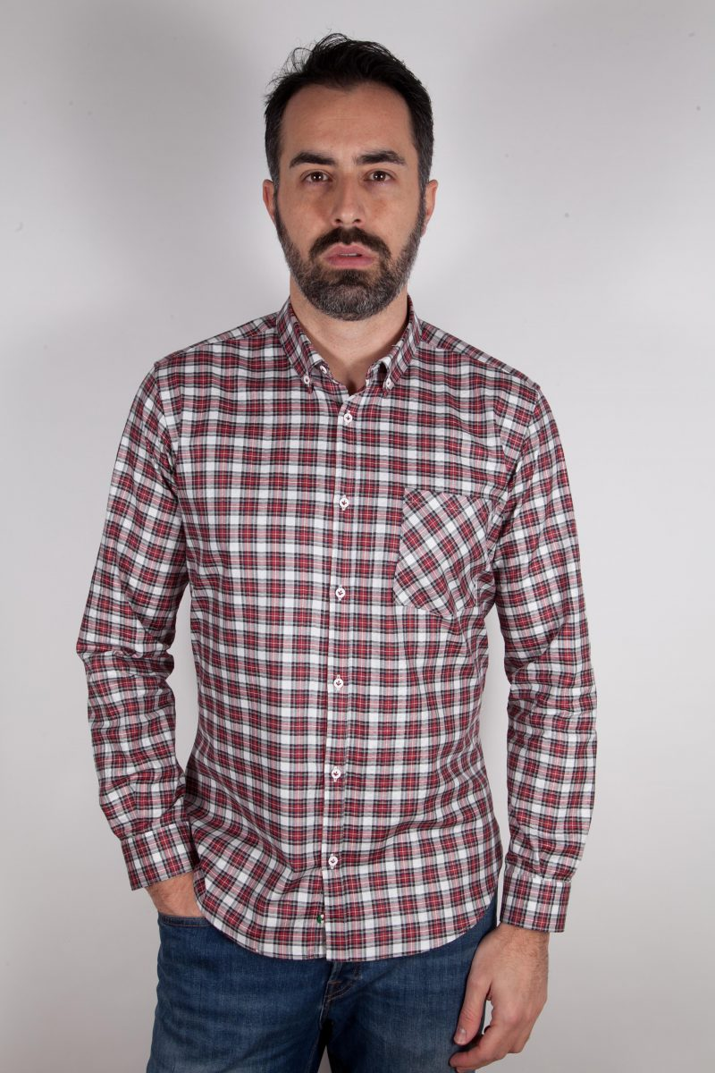Camicia a quadri con tasca ARDENZA-64-574-01