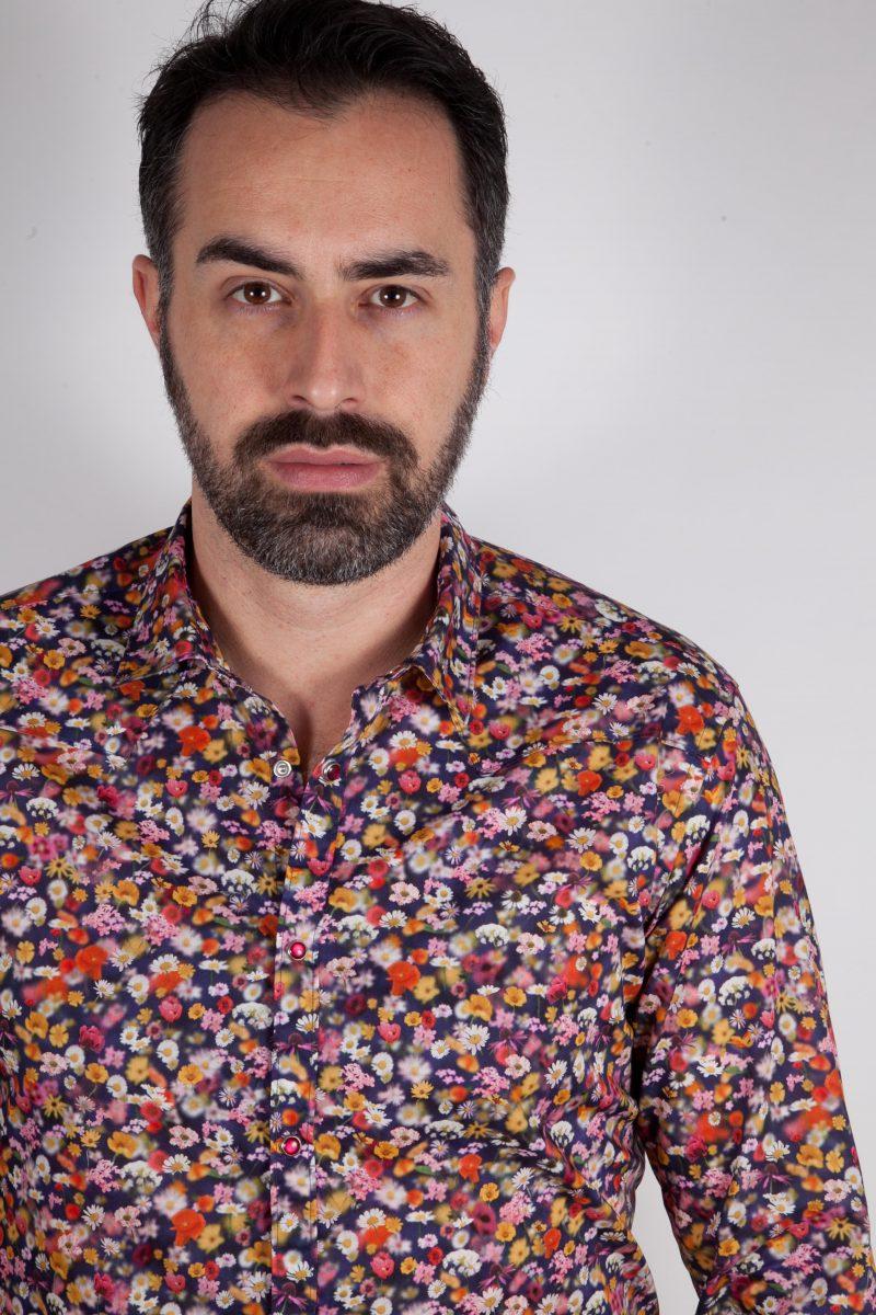 Camicia con stampa floreale PRUNO-66-556-01