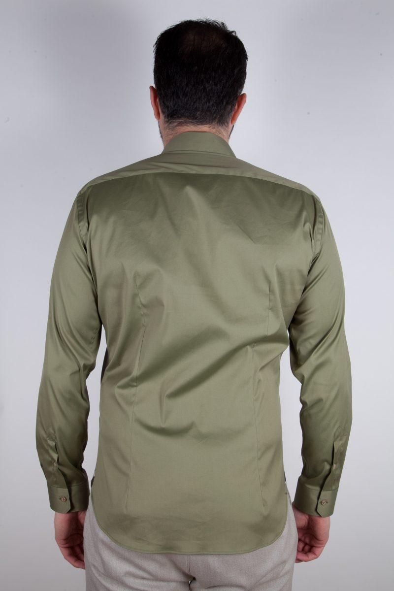 Camicia Stretch Collo francese tinta unita PRACCHIA-62M-500-03