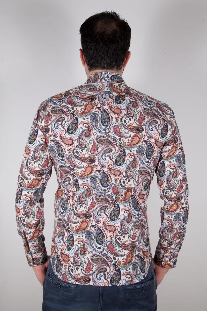 Camicia con stampa cachemire FIRENZE-62M-535-01