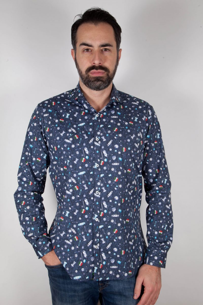 Camicia con stampa PISA-31F-524-01
