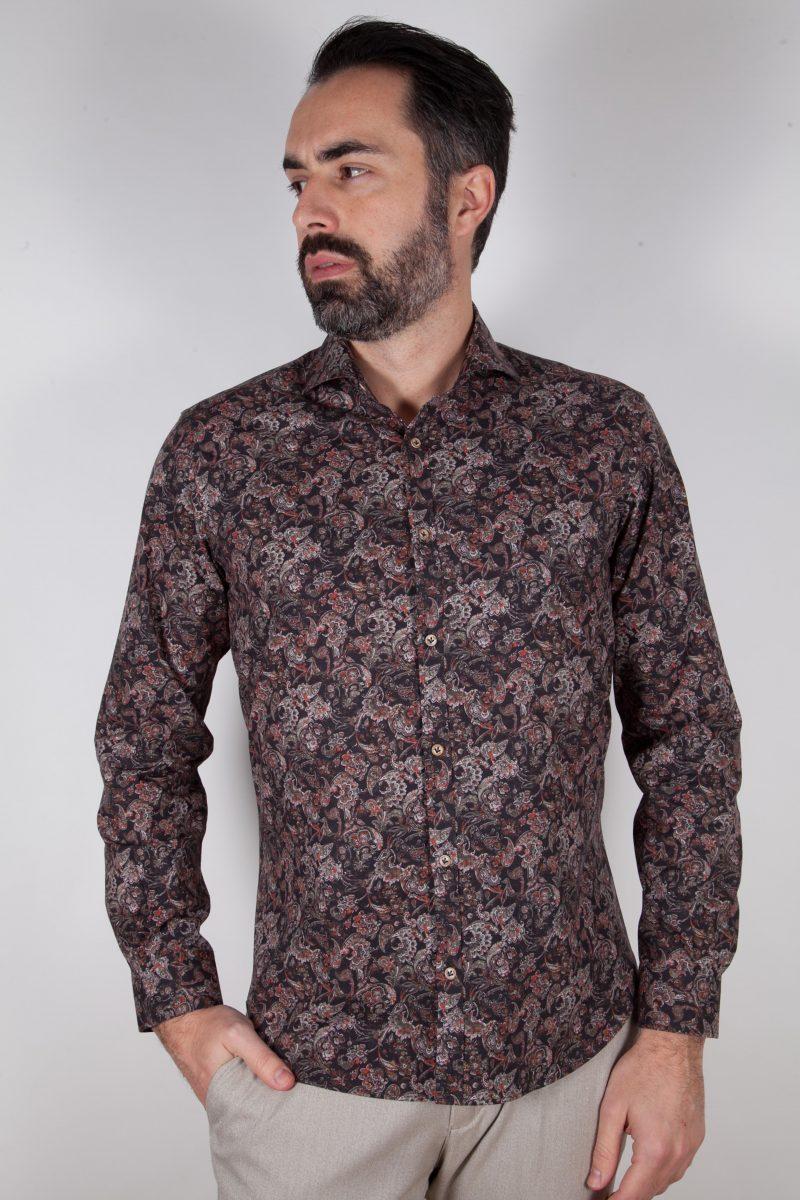 Camicia con stampa PISA-31F-549-01