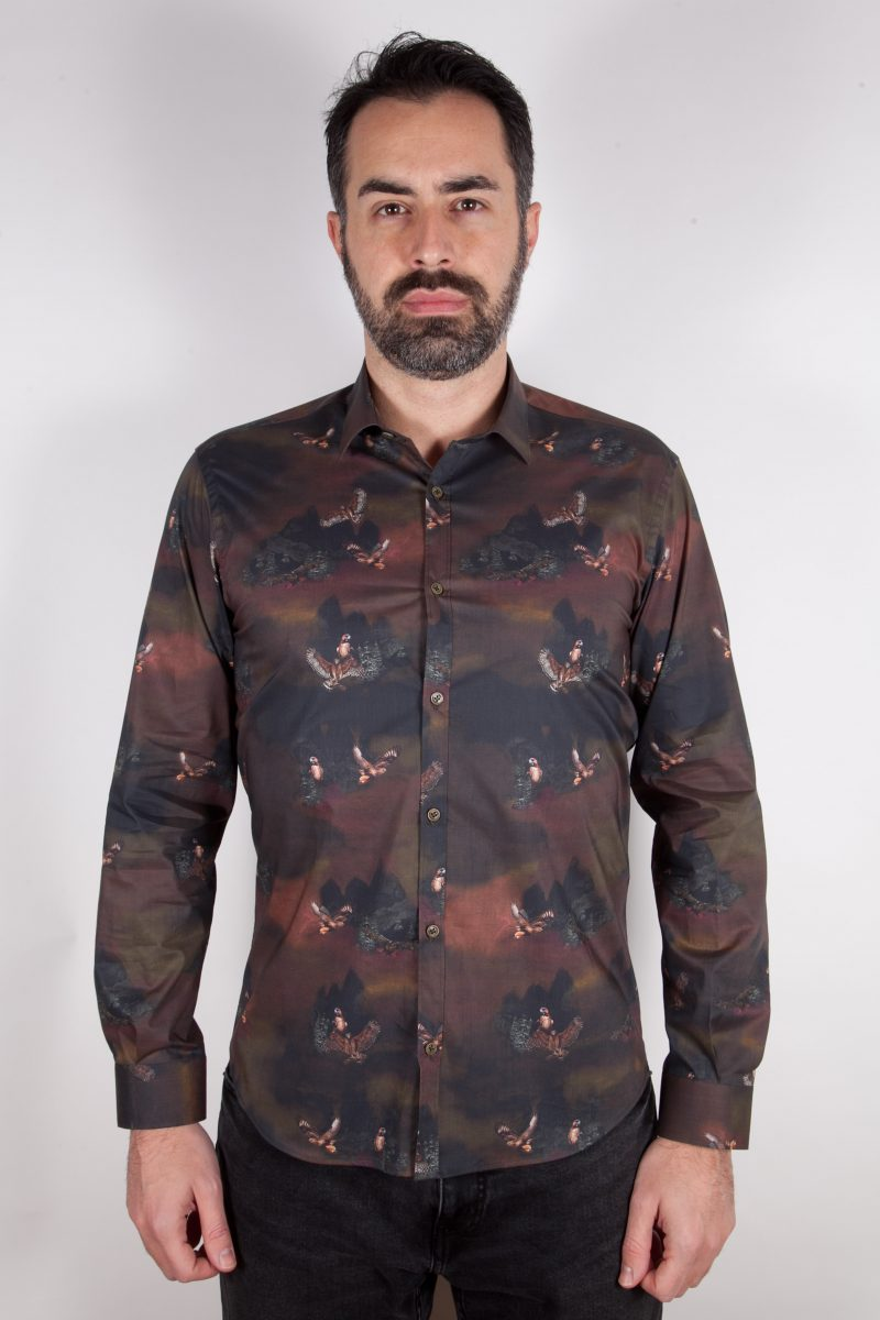 Camicia con stampa PISA-73-548-01
