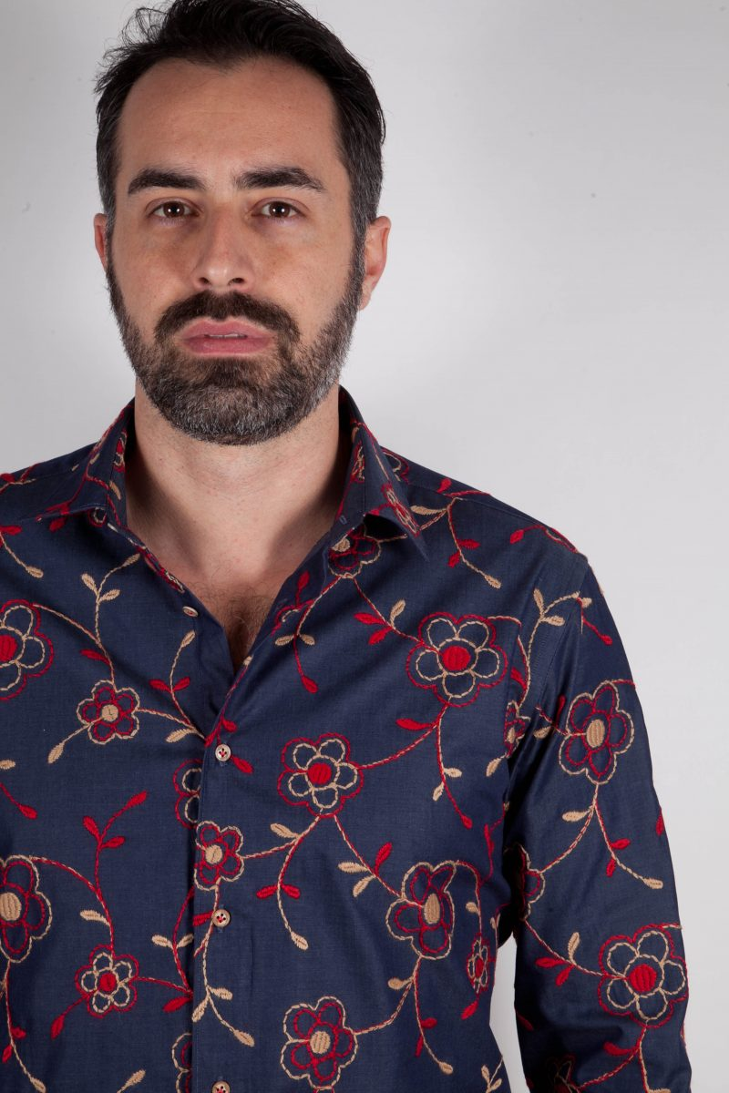 Camicia in Denim con ricami grandi FIRENZE-UBBF-605